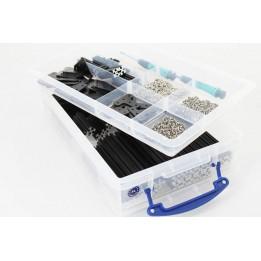 OpenBeam - 15x15mm aluminum profile OpenBeam Precut Kit in-a-box Black