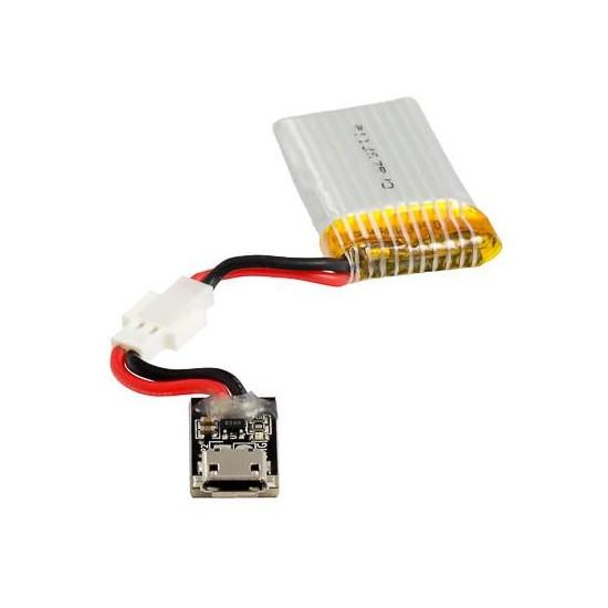 Batterie 240 mAh et chargeur pour nano-drone Crazyflie 2.1