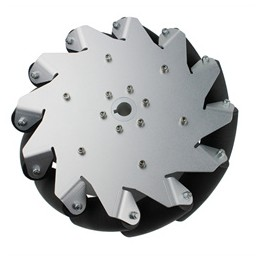 Nexus Robotics Ltd. - Mecanum Aluminiumrad 254 mm (links)