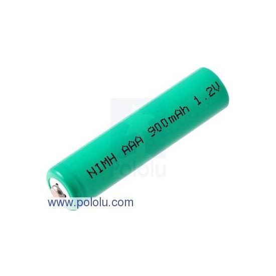 Rechargeable Polulu NiMH AAA Battery 1.2 V, 900 mAh