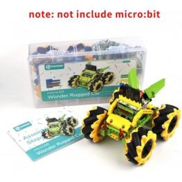 Wonder Rugged Car Kit pour micro:bit - Version jaune (carte micro:bit non incluse)