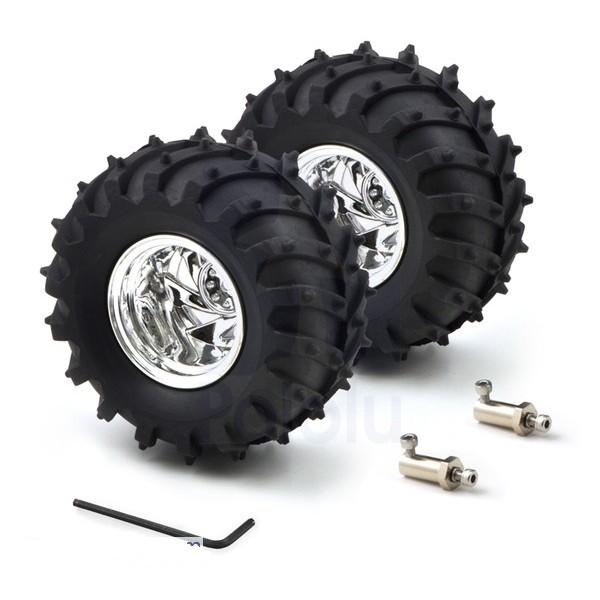 Pair of wheel for dagu wild thumper outdoor robot for Robot motors and wheels