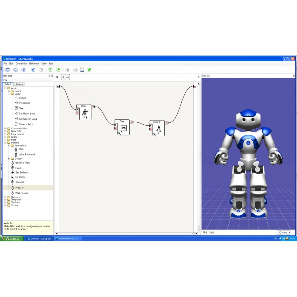 Software Suite for Programmable Humanoid NAO Evolution Robot