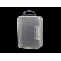 Boîte de rangement en plastique transparent