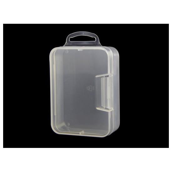 Aufräumbox aus transparentem Kunststoff