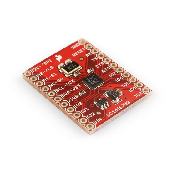 Breakout Board for SC16IS750 I2C/SPI-to-UART IC