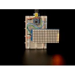 Matrice de Led 6x8 + Backpack - Ultra Bright Square Amber LEDs