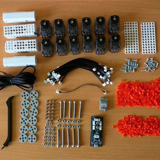 Components kit to build a quadruped robot Metabot (without 3D parts)