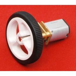 Pack de 2 roues 32x77mm pour robot mobile DIY