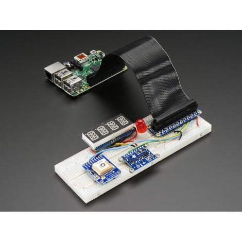 Pi Cobbler Plus montiert – GPIO-Flachkabel für Raspberry Pi B+/A+/Pi2