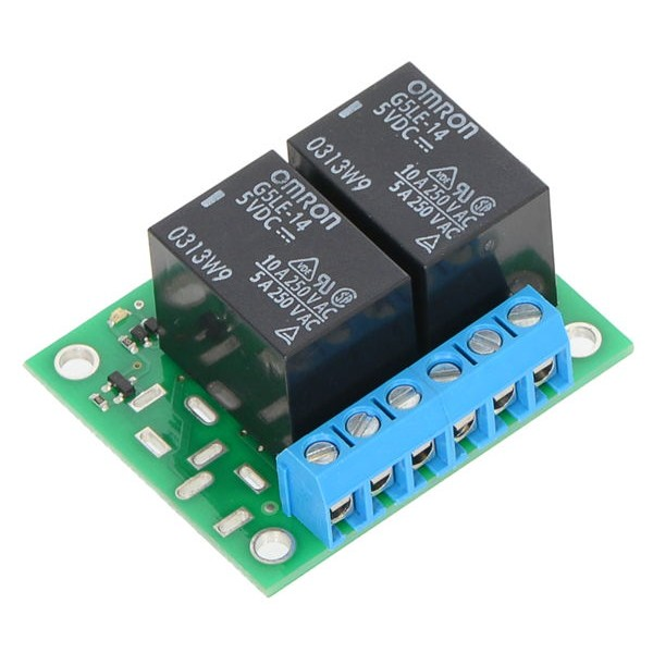 12 Vdc 2-Channel SPDT Relay Carrier for SPDT Switches (assembled)