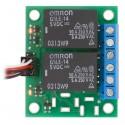 Module 2 relais inverseurs 12 Vcc pour interrupteurs SPDT (assemblé)