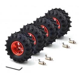 Set mit 4 All-Terrain Rädern für Dagu (rot)