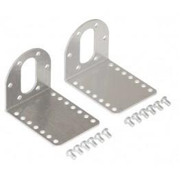Support aluminium en L pour moteurs CC Métal Pololu 37D