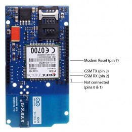 Arduino GSM Shield with integrated antenna