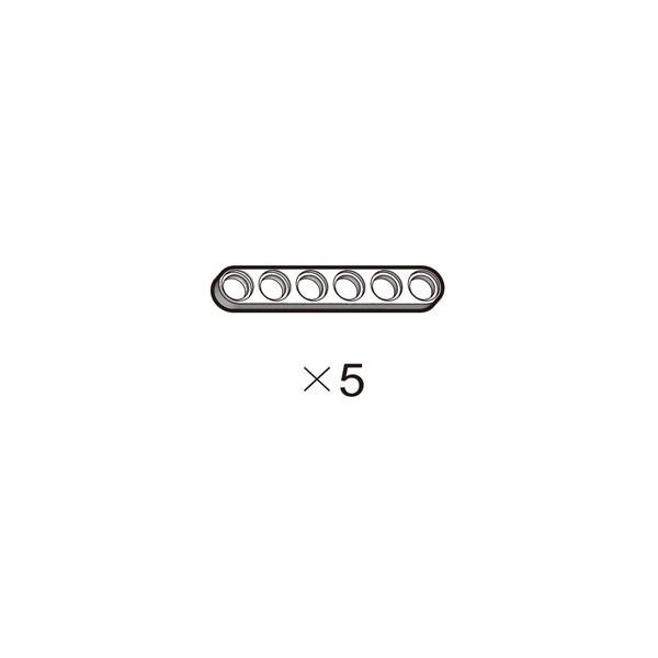 OLLO Plate 1X6 white 5pcs