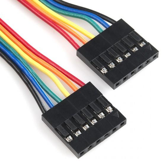 10 cm Kabel mit 6 Pins für die Verbindung