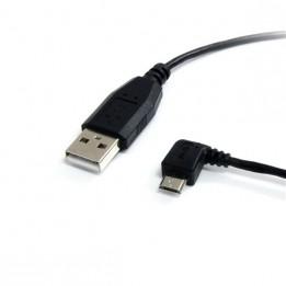 cable USB micro/standard coudé left-angle 30 cm