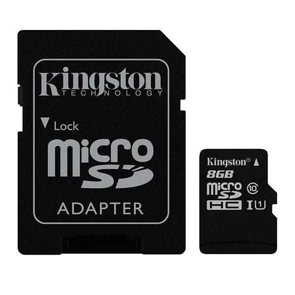 8GB microSD Speicherkarte mit SD-Adapter