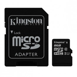 8GB Flash Memory Card (microSDHC to SD Adapter Included)
