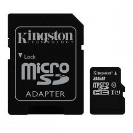 Carte mémoire microSD 8 Go avec son adaptateur SD