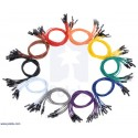 Pack of 50 Pololu jumper wires male-male
