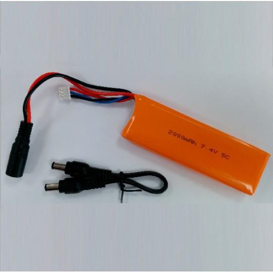 LiPo Batterie kompatibel Arduino 7.4V 2000mAh