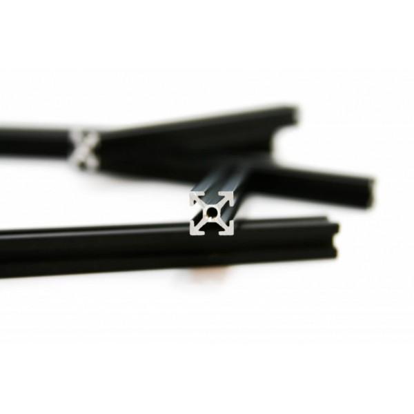 MakerBeam Profil mit Gewindebohrung 600 mm - Schwarz (x1)