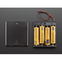 Support de piles avec interrupteur marche/arrêt (4 piles)