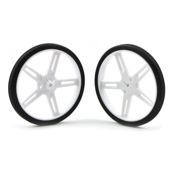 Weiße Räder von Pololu 70x8mm