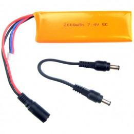 7.4V 1000 mAh Li-Po-Akku kompatible mit Arduino
