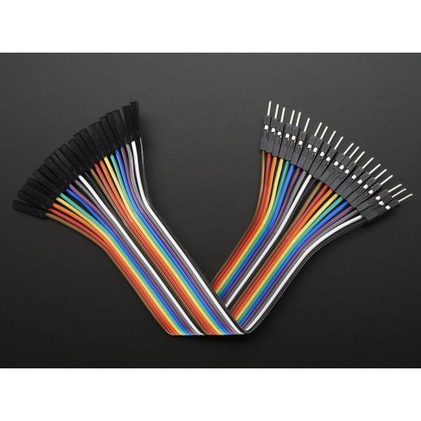 "Premium Female/Male Jumper Wires - 20 x 6"" (150mm)"