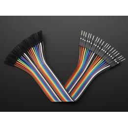 Jumper Kabel 20 Stecker männlich/weiblich 150mm