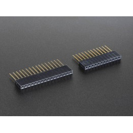 12 and 16-pin Stackable Headers for Feather Board