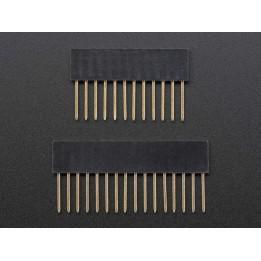 Connecteurs empilables 12 et 16 pins pour carte Feather