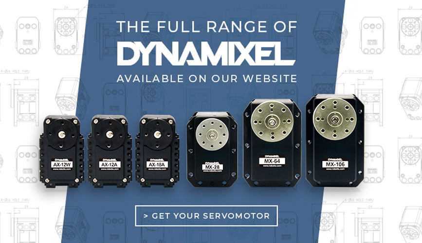 the full range of dynamixel from Robotis