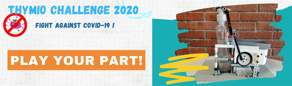 Thymio Challenge 2020 - fight the Covid-19