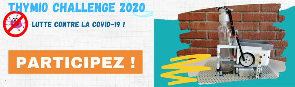 Thymio Challenge 2020 - combattez la Covid-19