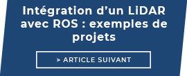 Intégration d'un LiDAR avec ROS : exemples de projets