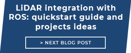 LiDAR integration with ROS: quickstart guide and projects ideas