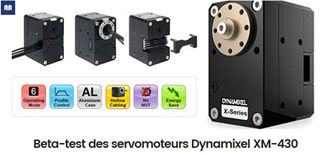 Dynamixel XM-430 servo beta test