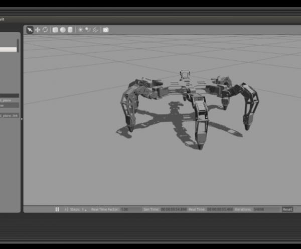 ROS Gazebo similation of a legged robot