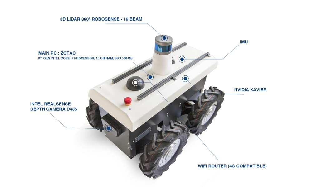 Shadow Runner RR100 mobile robot by Running Brains