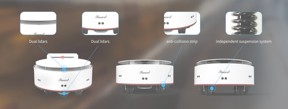 Illustration of the strengths of the YDLIDAR SMART indoor mobile robot
