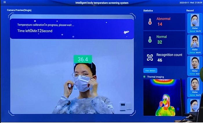 Exemple de prise de température à distance avec le système IA du capteur de SeeedStudio