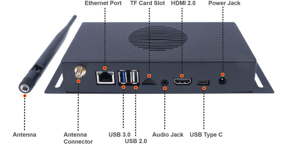 Vue du terminal du Système IA de reconnaissance et prise de température à distance