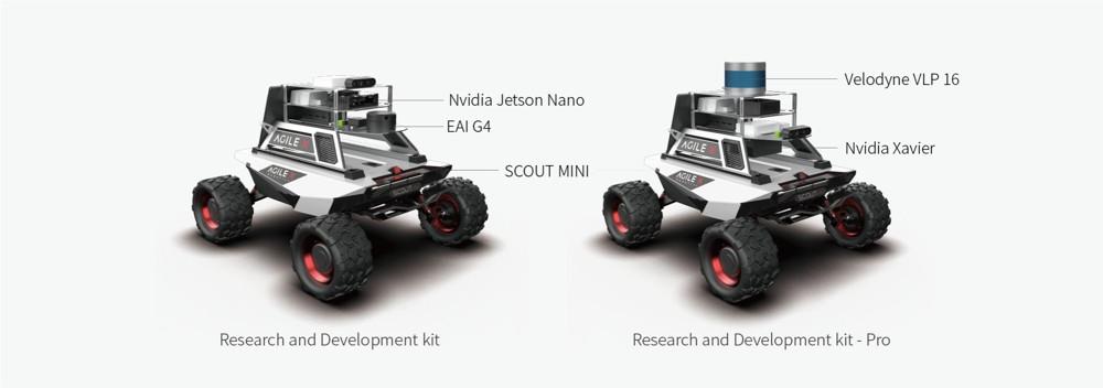 Vergleich: R&D Pro Kit vs Standard-AgileX