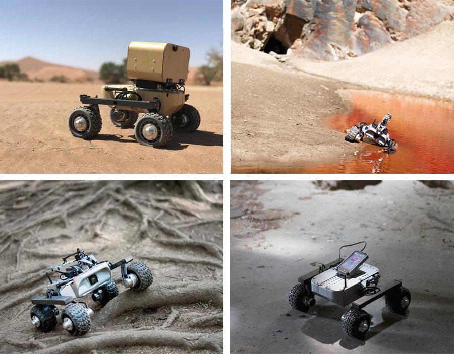 Mobiler Roboter Leo Rover mit raspberry pi