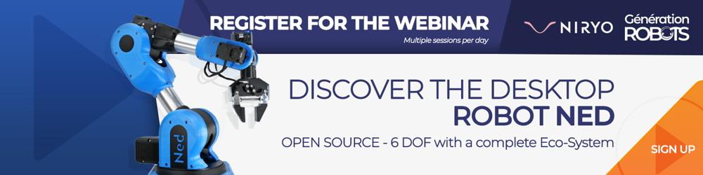 Banner - register for the webinar - Discover Niryo Ned (en)
