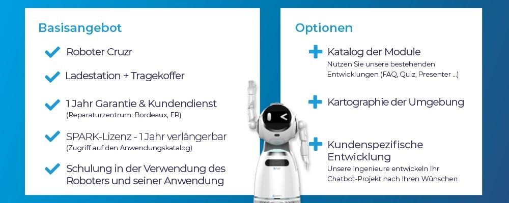 Cruzr Serviceroboter und SPARK Software Angebot